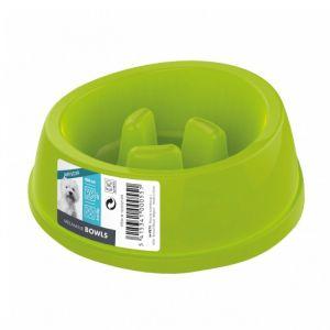 M pets Gamelle en plastique simple MELAMINE BOWL - Pour chien - 450ml - Coloris divers - Gamelle simple - Antidérapante - Système anti-glouton