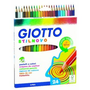 Giotto 24 Crayons de couleur Stilnovo assortis