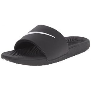 Nike Kawa Slide (GS/PS), Tongs Garçon, Noir (Black/White 001), 38.5 EU