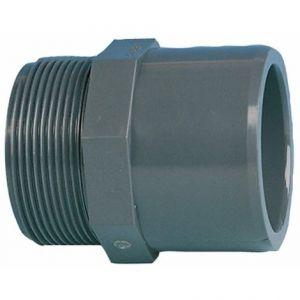 """jardiboutique Embout Mixte diamètre 50 ou 63 mm 2"""" a Visser PN 16 - raccord PVC"""