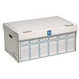 Majuscule 5 containers de boîtes à archives avec couvercle M-Business en carton