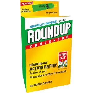Roundup Désherbant Polyvalent Rapide Tubes Pré-dosés, x3
