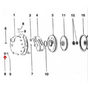 Procopi 976506 - Bouchon de vidange de surpresseur Tema 1000