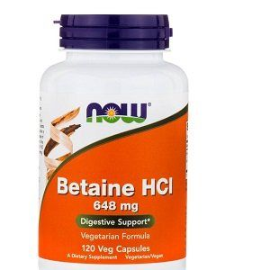 Now Foods Bétaïne HCL 648 mg, 120 gélules