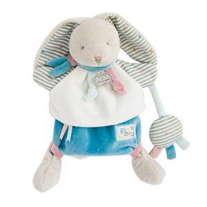 Doudou et Compagnie Peluche marionnette lapin happy