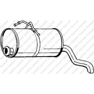 Bosal Silencieux arrière 135-225