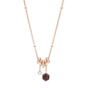Fossil Collier Femme Classics Rose