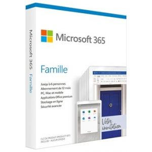 Logiciel 365 Family French Sub 1YR France Only Medialess SaveNow P6 [Windows]