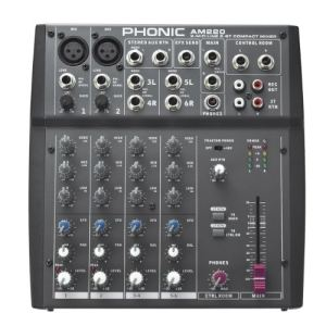 Phonic AM 220 - Console analogique 6 pistes