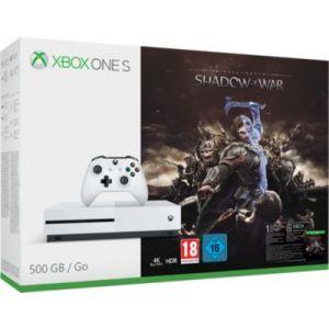 Microsoft Xbox One S 500 Go + L'Ombre de la Guerre