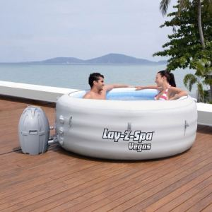 Bestway 54112 Lay-z-Spa Premium Series - Spa rond gonflable Vegas 2 personnes 848 litres