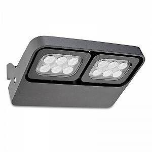 Led C4 Leds C4 - Applique extérieure April LED IP65 - Gris