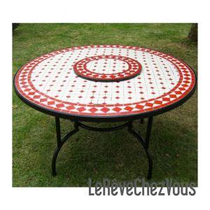Best table de jardin ronde carrelee contemporary - Table jardin ronde mosaique ...