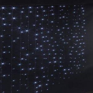 Rideau lumineux à piles H1,50 m Blanc froid 150 LED