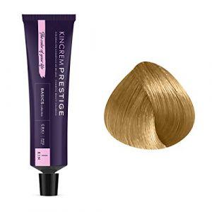 Kin Cosmetics Coloration permanente enrichie à la kératine 9.0 - Blond Très Clair, 60ml