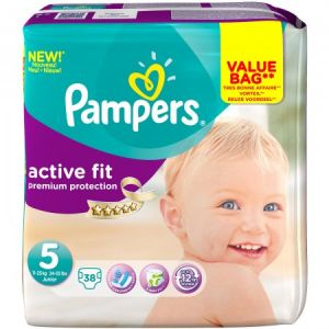 Pampers Active Fit taille 5 (11-25 kg) - 38 couches