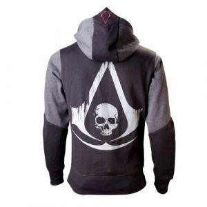 Bioworld Assassins Creed IV - Sweat à capuche Homme - Noir (Black/ Grey) - Taille: XL