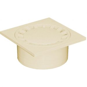 First Plast Siphon de cour en polypropylène sable l.14.9 x H.14.9 cm