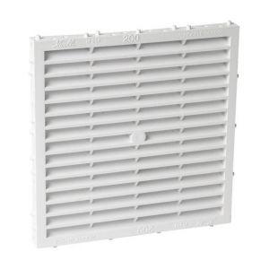 Nicoll Grille façade carrée à combinaison moust 200cm² blanc M214 -