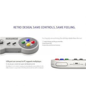 Qumox SNES30 PRO Bluetooth manette de jeu Version Japon pour Android/Windows/Mac/Nintendo switch