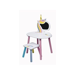 Global Industry Coiffeuse + Tabouret - Licorne