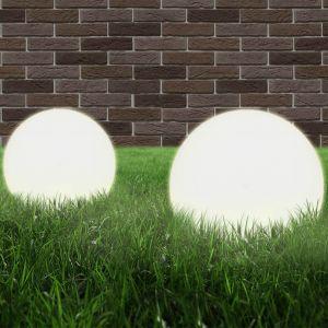 VidaXL Lampe à LED sous forme de boule 2 pcs Sphérique 30 cm PMMA