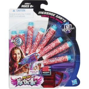 Hasbro Recharges messages x8 Nerf Rebelle agent secret