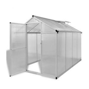 VidaXL 41317 - Serre renforcée en aluminium avec bâti intégré 4,6 m²