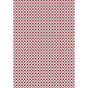 Clairefontaine 393816C - Sachet de 4 feuilles pliées de papier de soie, 18 g/m², 50x70cm, motif Boules rouge/argent