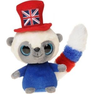 Aurora Yoohoo and Friends - Peluche avec chapeau drapeau anglais