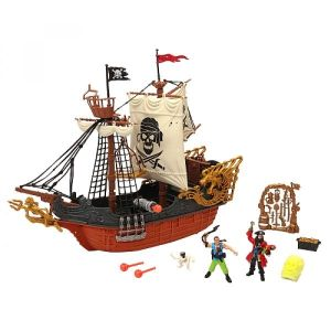 LGRI Pirates Deluxe Captain Ship playset