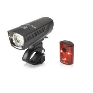 XLC Comp CL-S14 - Kit éclairage vélo - Francisco/Pan noir Sets de lampes