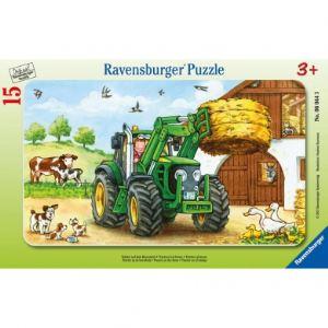 Ravensburger Puzzle cadre: Tracteur à la ferme 15 pièces