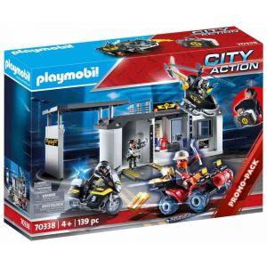 Playmobil Quartier général transportable des policiers d'élite - City Action - 70338