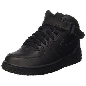 Nike Chaussure de basket-ball Chaussure Air Force 1 Mid pour Jeune enfant - Noir Taille 34