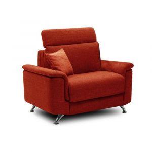 Inside75 Fauteuil EMPIRE tweed orange convertible ouverture RAPIDO 70*195*12cm