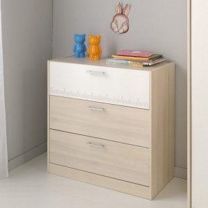Commode en bois avec 3 tiroirs