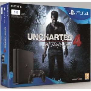 Sony PS4 Slim 1 To + Uncharted 4 : A Thief's End