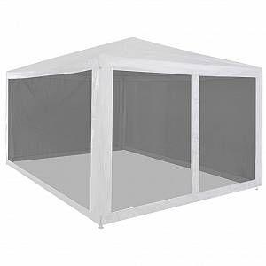 VidaXL Tente de réception pliable avec 4 parois en maille 4 x 3 m