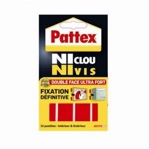 Pattex Ni Clou Ni Vis - Pastilles fixation blister de 12
