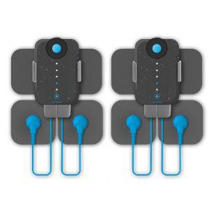 Bluetens Duo Sport - Electrostimulateur connecté avec électrodes, adaptateur sans fil et sacoche de transport