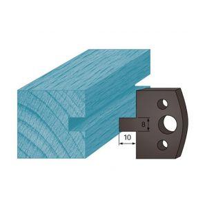 Diamwood Platinum Jeu de 2 contre-fers profilés Ht. 38 x 4 mm rainure 8 mm A94 pour porte-outils de toupie
