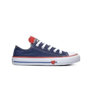 Converse Chaussures casual Chuck Taylor All Star basses en toile à lacets Sucker for Love Jean Bleu - Taille 27