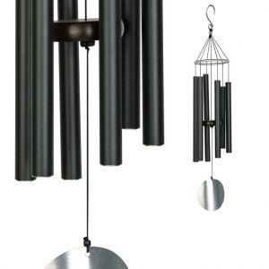 LG Carillon Aureole, coloris noir avec tubes en acier, H 165 cm