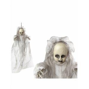 Atosa Décoration à suspendre poupon fantôme 50 cm Taille Unique