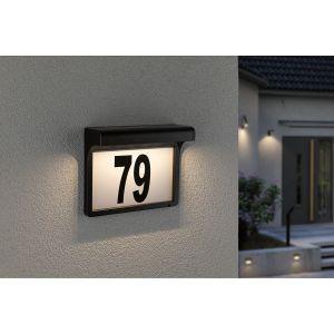 Paulmann 95388 - Numéro de maison solaire avec détecteur LED/0,05W IP44 DAYTON 4,8V