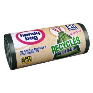 Handy Bag 10 sacs poubelles Recyclés (50 L)