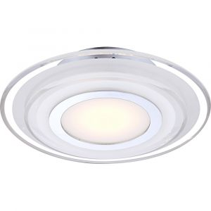 Globo Lighting Applique murale AMOS LED Chrome, Transparent, 1 lumière - Moderne/Design - Intérieur - AMOS