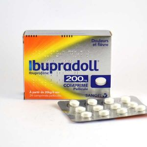 Sanofi Ibupradoll 200 mg - Comprimé Pelliculé Ibuprofène -  Boite de 24