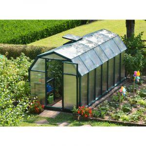 Palram Serre de jardin Ecogrow 8,8 m² - Résine et polycarbonate - Double parois